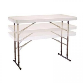 Location de table rectangulaire 183cm ajustable.