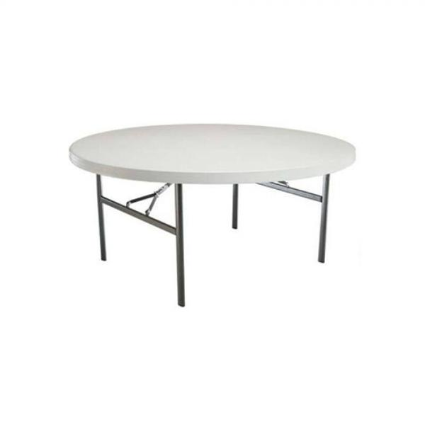 Location de table ronde 120 cm Lifetime en Ile de France et Picardie.